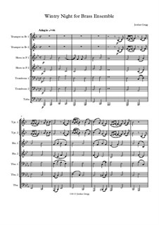 Wintry Night for Brass Ensemble: Wintry Night for Brass Ensemble by Jordan Grigg