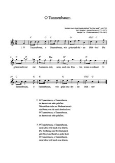 O Christmas Tree (O Tannenbaum): For guitar by folklore