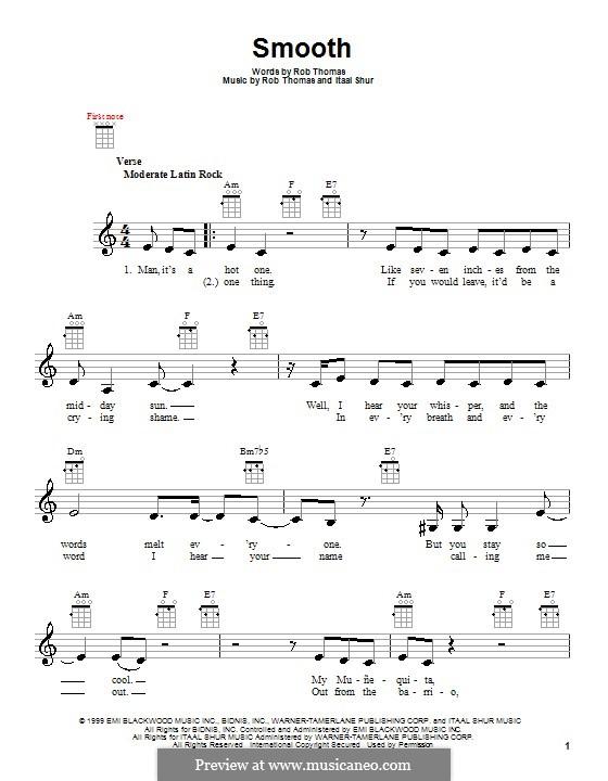 Smooth (Santana featuring Rob Thomas): For ukulele by Itaal Shur, Rob Thomas