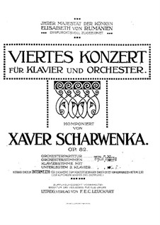 Piano Concerto No.4 in F Minor, Op.82: Movement I by Xaver Scharwenka