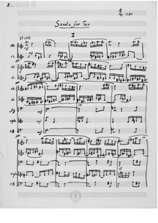 Sonata for Ten: Full score by Ernst Levy