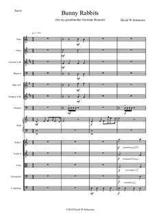 Bunny Rabbits for orchestra: Bunny Rabbits for orchestra by David W Solomons