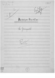 Musical Miniatures for String Quartet: Full score by Ernst Levy