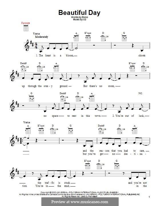 Beautiful Day: For ukulele by U2