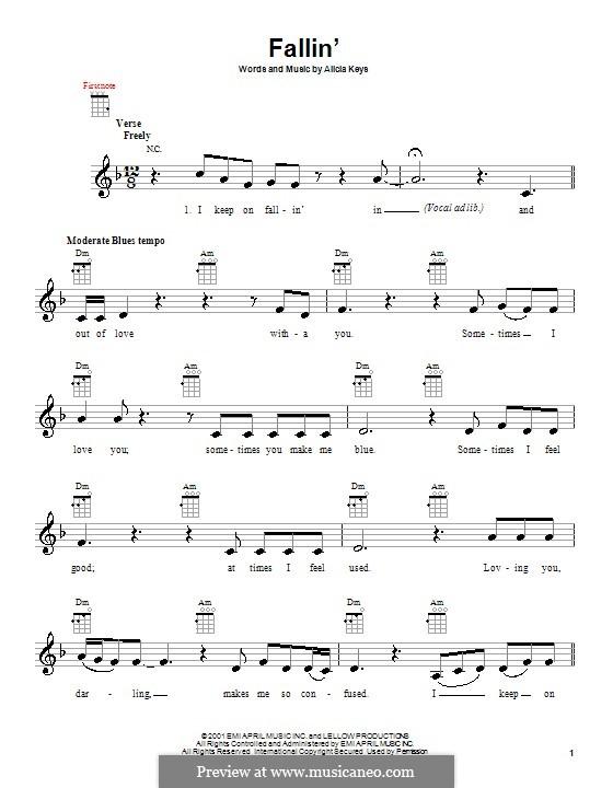 Fallin': For ukulele by Alicia Keys