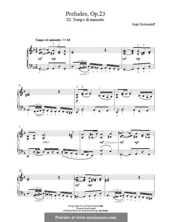 Ten Preludes, Op.23: Prelude No.3 in D Minor by Sergei Rachmaninoff