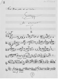 Soliloquy for Clarinet: Soliloquy for Clarinet by Ernst Levy