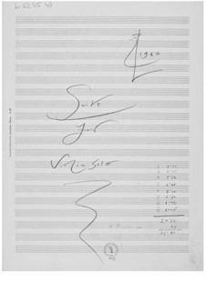 Suite for Violin Alone: Composer's Sketches by Ernst Levy
