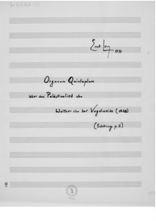 Organum quintuplum on the Palestine Song by Walther von der Vogelweide: Organum quintuplum on the Palestine Song by Walther von der Vogelweide by Ernst Levy