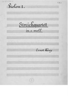 String Quartet No.1: Parts by Ernst Levy