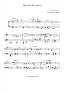 Wade in the Water: For piano by folklore
