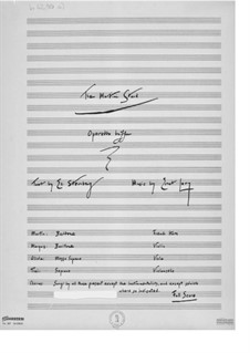 The Martini Stand. Operetta Buffa: Full score by Ernst Levy