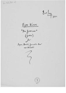 Cantata No.5 'Das Göttliche': Full score by Ernst Levy