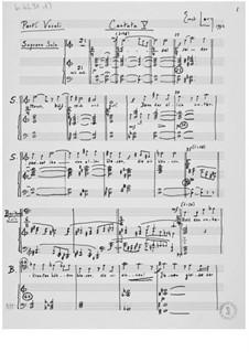 Cantata No.5 'Das Göttliche': Piano-Vocal Score by Ernst Levy
