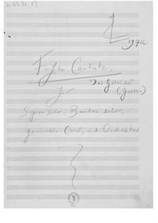 Cantata No.5 'Das Göttliche': Composer's Sketches by Ernst Levy