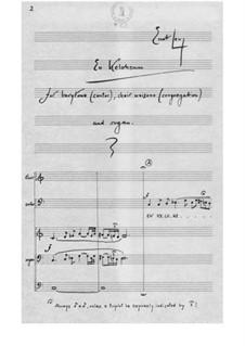 En Kelohenu for Barytone (Cantor), Choir Unisono (Congregation) and Organ: En Kelohenu for Barytone (Cantor), Choir Unisono (Congregation) and Organ by Ernst Levy
