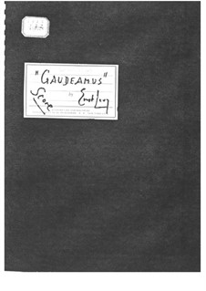 Cantata No.4 'Gaudeamus': Full score by Ernst Levy