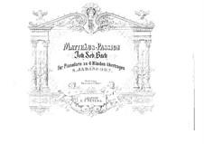 Complete Oratorio: For piano four hands by Johann Sebastian Bach