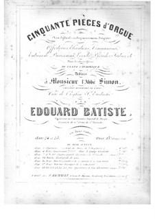 Cinquante pièces d'orgue, Op.24: No.1 Entrée de procession in G Major by Edouard Batiste