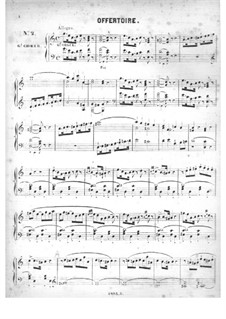 Cinquante pièces d'orgue, Op.24: No.2 Offertoire in C Major by Edouard Batiste