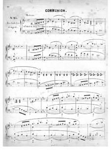 Cinquante pièces d'orgue, Op.24: No.25 Communion by Edouard Batiste