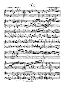 Three Piano Trios, Op.1: Trio No.1, for piano by Ludwig van Beethoven