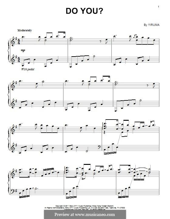 Do You?: For piano by Yiruma