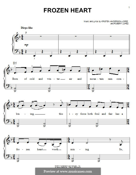 Frozen Heart: For piano by Robert Lopez, Kristen Anderson-Lopez