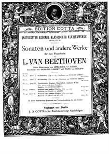 Sonata for Piano No.28, Op.101: For a single performer (Edited by H. Bülow) by Ludwig van Beethoven