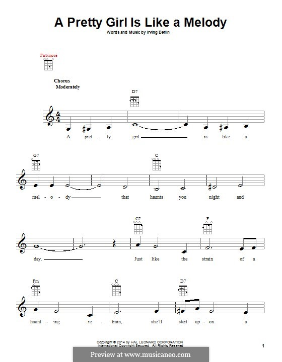 A Pretty Girl is Like a Melody: For ukulele by Irving Berlin
