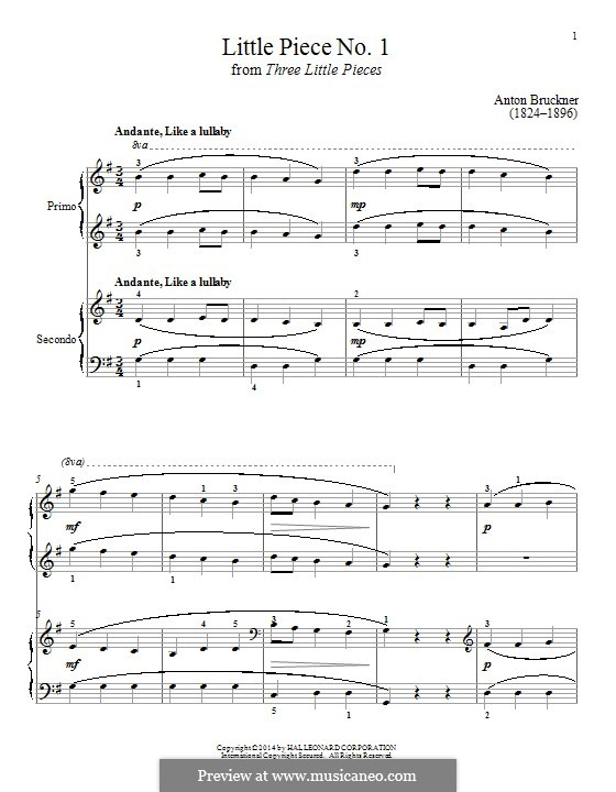 Three Small Pieces, WAB 124: Piece No.1 by Anton Bruckner