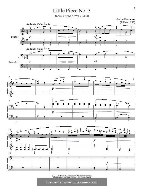 Three Small Pieces, WAB 124: Piece No.3 by Anton Bruckner