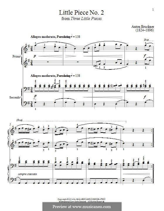 Three Small Pieces, WAB 124: Piece No.2 by Anton Bruckner