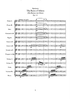 Overture: Full score by Ludwig van Beethoven