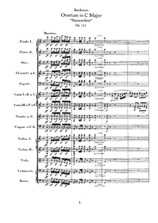 An Minna, WoO 115: Full score by Ludwig van Beethoven