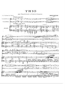 Trio for Clarinet, Cello and Piano No.4 'Gassenhauer' , Op.11: Full score and parts by Ludwig van Beethoven