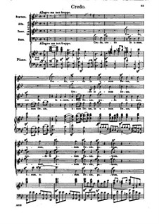 Missa Solemnis, Op.123: Credo, piano score with vocal parts by Ludwig van Beethoven