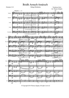 Beidh Aonach Amarach: For string orchestra by folklore