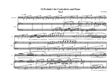 12 Prelude's for Contraforte and Piano: Prelude No.3, MVWV 744 by Maurice Verheul