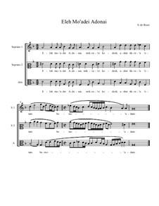 Eleh Mo'adei Adonai: For choir by Salamone Rossi