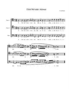 Eleh Mo'adei Adonai: For male choir by Salamone Rossi