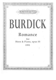 Romance for horn and piano, Op.55: Romance for horn and piano by Richard Burdick