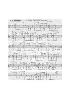 Aria: Version for guitar by Johann Sebastian Bach