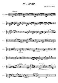 Ave Maria: For clarinet by Johann Sebastian Bach, Charles Gounod