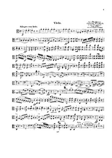 Concerto for Piano and Orchestra No.1, Op.15: Version for piano and string quintet – viola part by Ludwig van Beethoven