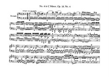Quartet No.4 in C Minor: Version for piano four hands – parts by Ludwig van Beethoven