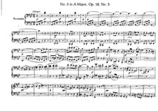 Quartet No.5 in A Major: For piano four hands – parts by Ludwig van Beethoven