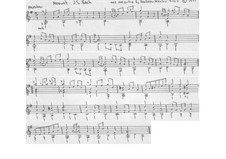 Minuet in G major from The notebook of Anna Magdalena Bach, BWV Anh. 114: Arrangement for classical guitar by Christian Petzold