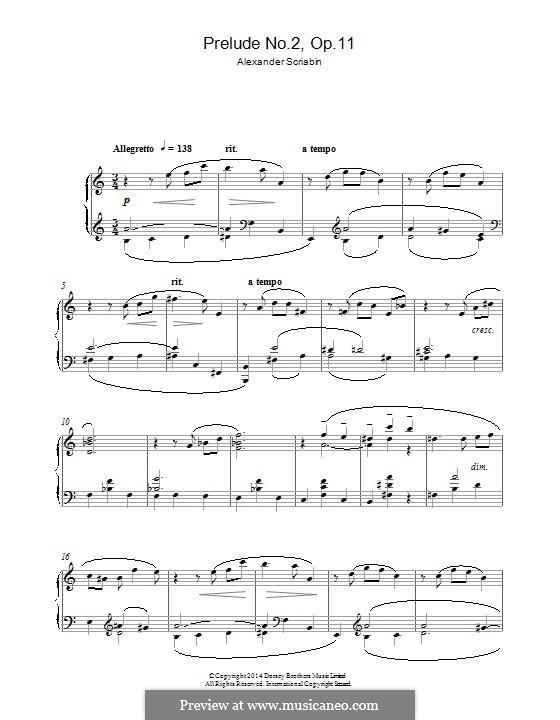 Twenty-Four Preludes, Op.11: Prelude No.2 by Alexander Scriabin