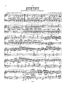 String Quintet in C Major, Op.29: Version for piano by Ludwig van Beethoven